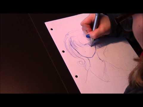 Manga Gesicht zeichnen in 3:40min