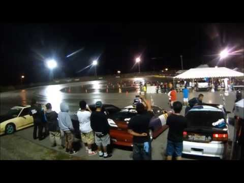 Slammed Society Car Show Guam 2013 With Drifting
