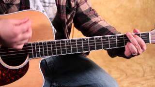 Grateful Dead - Easy Beginner Acoustic Guitar lessons - Franklin's Tower - Jerry Garcia