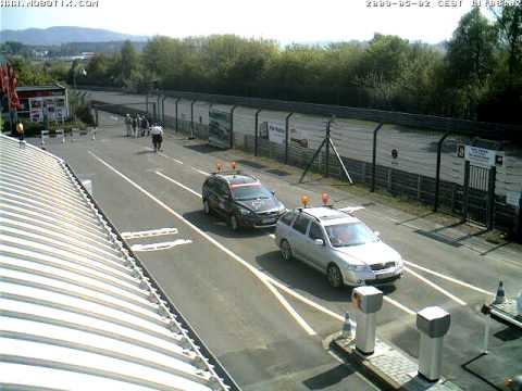 Nurburgring Webcam Timelapse taken 2nd May 2009