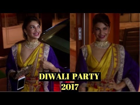 Jacqueline Fernandez At Sanjay Dutt's  Diwali Party 2017