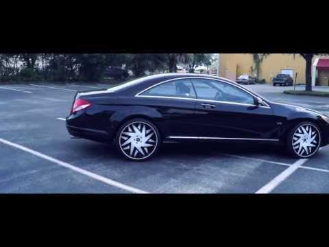 AceWhips.NET- Black Mercedes CL600 on 22
