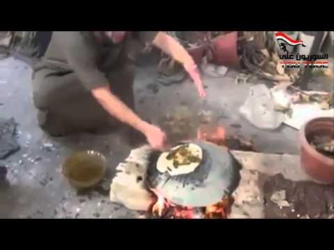 敘利亞自由軍利用地雷煎餅吃,結果…