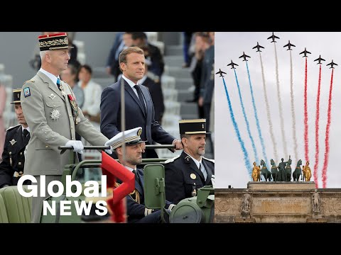 Bastille Day: Scaled-down parade held in Paris amid pandemic