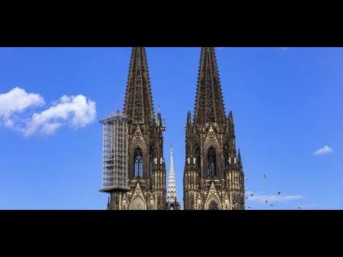 Köln: Modellstudie - Gebäude und Brücken alt oder v ...