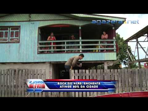 Em Boca do Acre Enchente Atinge 80% da Cidade 18 03 2015