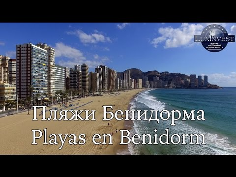 Poniente beach in Benidorm – the best beach in Europe! Drone photos