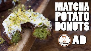 MATCHA POTATO DONUTS by Food Busker