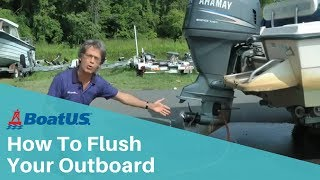 How To Flush Your Outboard