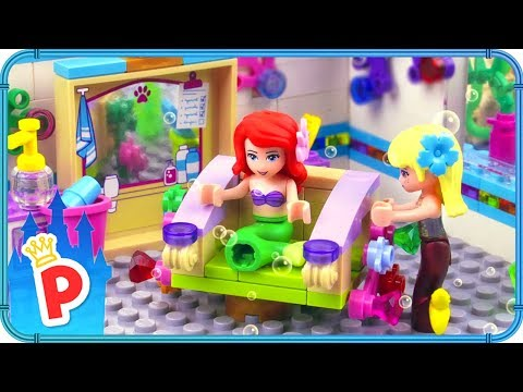 Hair color -  LEGO Ariel Visits Undersea HAIR SALON for a Haircut and Color Transformation