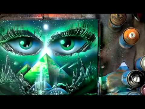 spray paint eyes and pyramids full video