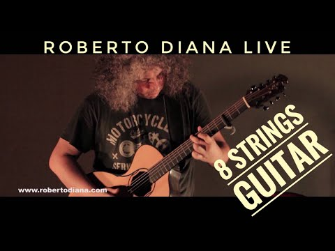 Roberto Diana - Day Off Live at Bibione LightHouse (VE) with 8 Strings Guitar