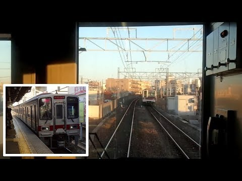 [Driver's View] 東武伊勢崎線・急行・越谷→押上 Tobu Isesaki Line Express Koshigaya → Oshiage