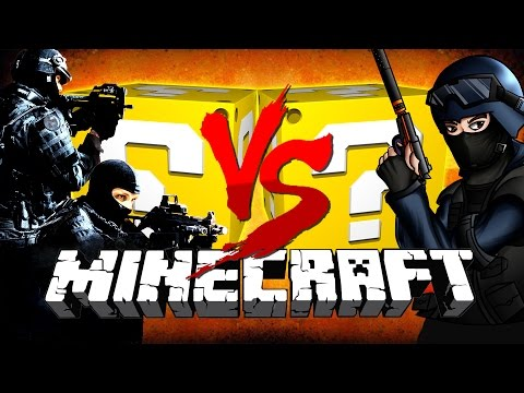 Minecraft: CS:GO LUCKY BLOCK CHALLENGE | Terrorists vs Counter Terrorists