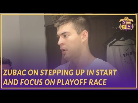 Video: Lakers Post Game: Zubac Talks About Stepping up in Start An the Playoff Race in the West