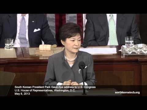United States Congress - South Korean President Park Geun-hye addressed the US Congress on May 8, 2013. In this excerpt of her speech, she speaks about North Korea's ongoing provocat...