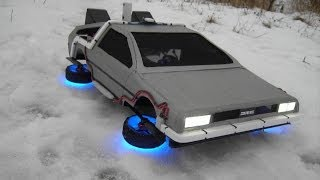 """Flying Time Machine From The Movie """"Back To The Future"""""""