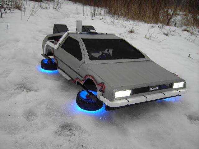 "Flying Time Machine From The Movie ""Back To The Future"""