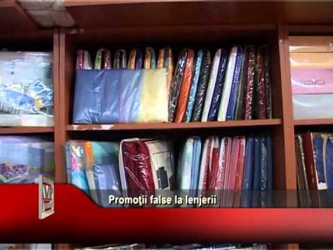 Promoţii false la lenjerii