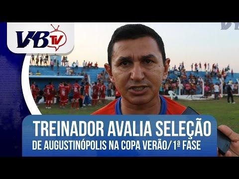 VBTv | Treinador avalia postura do time de Augustin�polis na primeira fase da Copa Ver�o