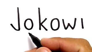 Video WOW, menggambar kata jokowi jadi wajah JOKOWI, / how to turn words JOKOWI into CARTOON MP3, 3GP, MP4, WEBM, AVI, FLV Juni 2018