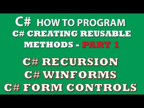 C# Exercise: Creating C# methods for reuse between different C# apps (C# Winforms, C# recursion, Console app) – Part 1