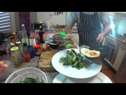 Byron's Vego Cooking Show, Episode 3:  Asian Inspired Eggs