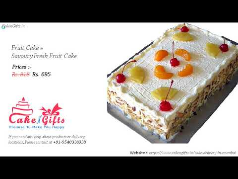 Order the Best Top 10 Fruit Cake at 695rs Best Offer