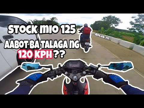 Yamaha Mio i 125 Stock TOP SPEED |TPS Reset and Tune up | Aabot kaya ng 120 kph?