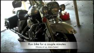 5. How to change the oil in a 2003 Harley Davidson Road King