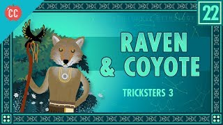 Mike Rugnetta continues to teach you about Tricksters in myth, and this time we're headed to the Americas. Coyote and Raven appear in stories from many Native American groups, and more often than not, they're tricky. They're also often kind of, well, nasty. Not to get too judgy. But we do a lot of talking about poop in this episode. I'm just saying. We also talk about Tricksters as creators, as Coyote creates constellations, and Raven creates some rivers.Crash Course is made with Adobe Creative Cloud. Get a free trial: Crash Course is on Patreon! You can support us directly by signing up at http://www.patreon.com/crashcourseThanks to the following Patrons for their generous monthly contributions that help keep Crash Course free for everyone forever:Mark, Les Aker, Bob Kunz, Mark Austin, William McGraw, Jeffrey Thompson, Ruth Perez, Jason A Saslow, D.A. Noe, Shawn Arnold, Eric Prestemon, Malcolm Callis, Advait Shinde, Rachel Bright, Khaled El Shalakany, Ian Dundore, Tim Curwick, Ken Penttinen, Dominic Dos Santos, Indika Siriwardena, Caleb Weeks, Kathrin Janßen, Nathan Taylor, Andrei Krishkevich, Brian Thomas Gossett, Chris Peters, Kathy & Tim Philip, Mayumi Maeda, Eric Kitchen, SR Foxley, Tom Trval, Cami Wilson, Moritz Schmidt, Jessica Wode, Daniel Baulig, Jirat --Want to find Crash Course elsewhere on the internet?Facebook - http://www.facebook.com/YouTubeCrashCourseTwitter - http://www.twitter.com/TheCrashCourseTumblr - http://thecrashcourse.tumblr.com Support Crash Course on Patreon: http://patreon.com/crashcourseCC Kids: http://www.youtube.com/crashcoursekids