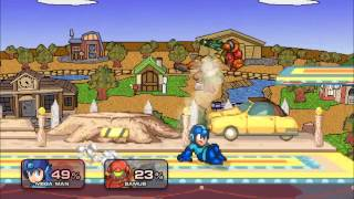 Megaman in Super Smash Flash 2