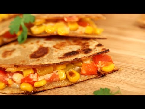 Vegetable Quesadillas Recipe | How To Make Quesadillas | Divine Taste With Anushruti