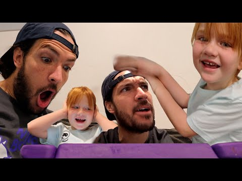TRAPPED INSiDE the iPAD?!  Adley & Dad play a new family game! and beach visit! my town app review