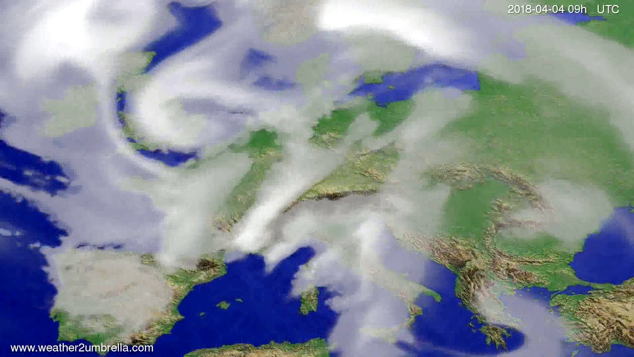 Cloud forecast Europe 2018-03-31