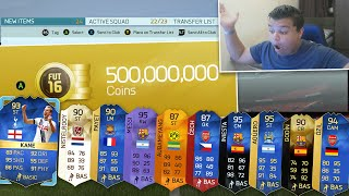 500 MILLION COINS!! - FIFA 16 PACK OPENING