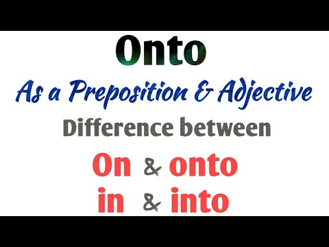 Use of Onto | on vs onto | in vs into | difference between on & onto | into & in | English part 66.