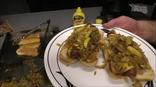 Polish sausage sandwiches,  Grilled shrimp salad by Louisiana Cajun Recipes