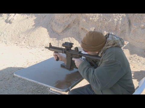 Shooting full automatics at the gun show