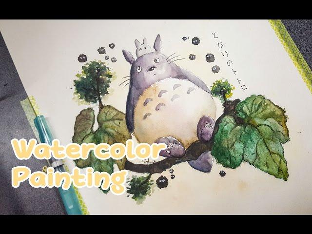 Totoro-speed-painting