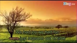 Season in the sun karaoke
