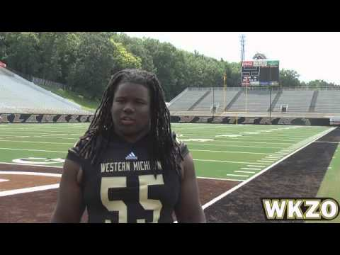 WMU DT Travonte Boles from Media Day