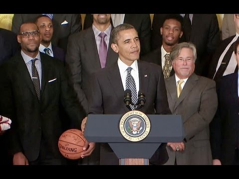 VIDEO: Miami Heat Visit White House!