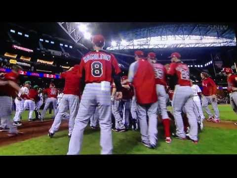 baseball - A crazy brawl erupted in the 9th inning of the World Baseball Classic game between Canada and Mexico. Game was held in Phoenix, Arizona. Run differential is ...