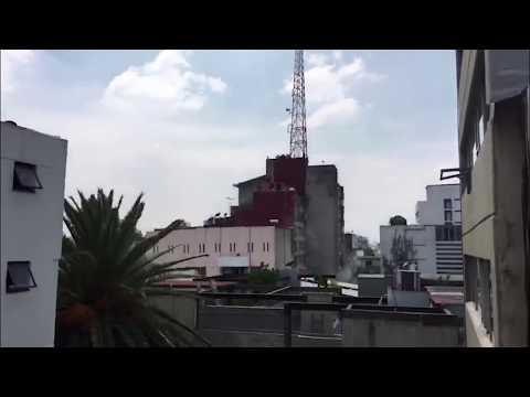 Terremoto 19 Septiembre Edificio de Ámsterdam y Laredo, sismo 19 Septiembre (видео)
