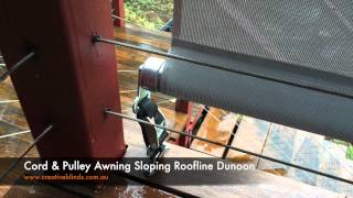 Creative Blinds and Awnings Cord & Pulley Awnings Dunoon