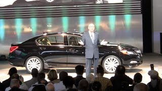 All New 2014 Acura RLX Flagship Drives Onto The World Stage At LA Auto Show