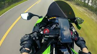 7. 2017 zx10r going fast with quickshifter and autoblip action