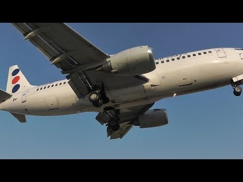 JAT 737-300 - Landing & Takeoff - Skiathos, the Second St Maarten - JAT now gone!