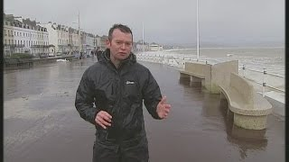 Weymouth United Kingdom  city photos : UK storms: Channel 4 News on the Weymouth esplanade